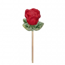 Rosa de Xocolata Blanca - color vermell