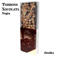 Turrón chocolate negro y almendras
